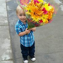 elijah and flowers