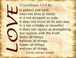 1 cor 13 love is