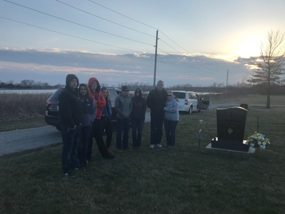 all of us at the cemetery