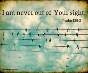 I am never out of Your sight